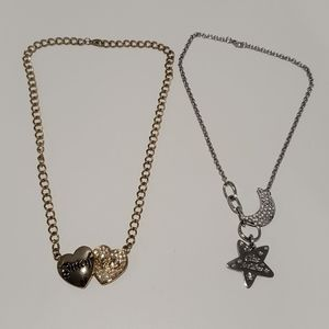 2 necklaces, one gold, one silver ♥️